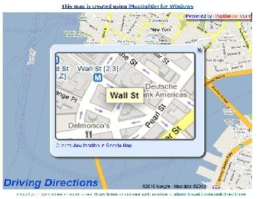 streetmap google map interactive example